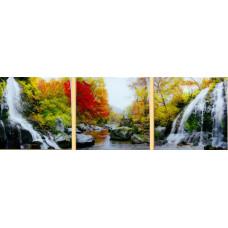 Картина по номерам Триптих. Водопад