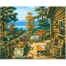 Картина Терраса лесного домика