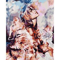 Картина по номерам Волчья стая