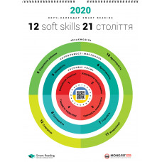 Розумний настінний календар на 2020 рік «12 soft skills 21 століття